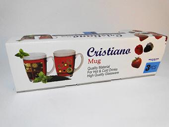 (English) Cristiano Glass Mug